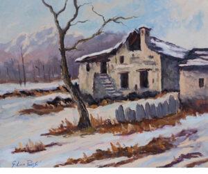 GL Pavesi Neve a Giosio (Montecrestese) cm 60x50