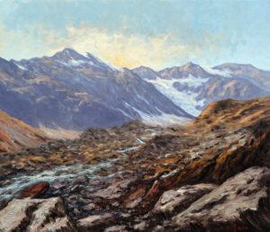 Pavesi_ugo_Ai piedi del ghiacciaio del Fletschorn 60x70 PU4