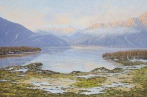 Pavesi_ugo_Inverno al Lago di Mergozzo 100x150 PU38