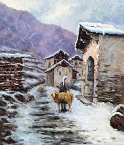 Pavesi_ugo_Inverno in montagna 60x70 PU39