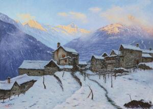 Pavesi_ugo_Mattino d'inverno al mio paese 250 x180 PU49